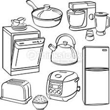 Household Appliance For Kids Coloring