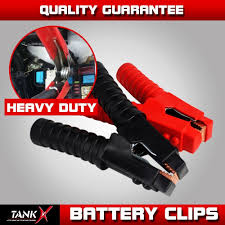 100 Heavy Duty Truck Battery Charger Jumper 1300A Cover Booster Clip Clamps