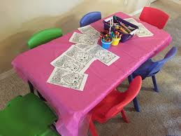 Shopkins Party Coloring Table