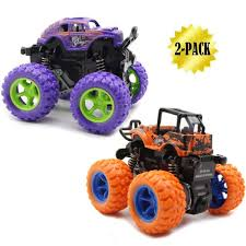 100 Big Truck Toys WOCY Monster S Monster Friction Powered Vehicles Tire Wheel Car 2 Pack