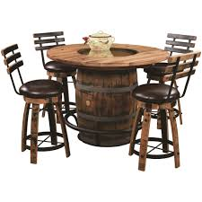QW Amish Whiskey Barrel Table Set - Burnt Hickory - Quality Woods Furniture Ding Room Kitchen Fniture Biltrite Of Milwaukee Wi Curries Fnituretraverse City Mi Franklin Amish Table 4 Chairs By Indiana At Walkers Daniels Millsdale Rectangular Wchester Solid Wood Belfort And Barstools Buckeye Arm Chair Pilgrim Gorgeous Elm Made Ding Room Set In Millers Door County 5piece Custom Leg Maple Lancaster With Tables Home Design Ideas Light Blue Old Farm Sawnbeam 5 X 3 Offwhite Painted With Matching