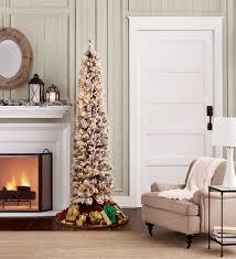 7 Ft Slim Christmas Tree by D U0026b 7 U0027 Pre Lit Pencil Spruce Christmas Tree Sears