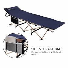 Camp Chair With Footrest by Wolfwise Folding Camping Bed Portable Outdoor Camping Cot