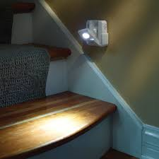 the position motion sensing staircase lights hammacher