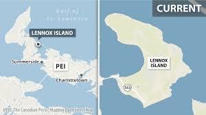 Sinking Islands Global Warming by Rising Sea Levels Erosion Threatens Lennox Island Off Coast Of