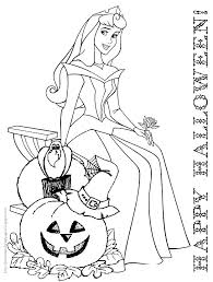 Disney Princess Halloween Coloring Pages Printable