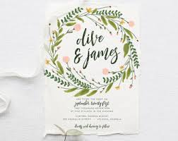 Rustic Wedding Invitation Suite DEPOSIT DIY Garden Greenery Bohemian Boho