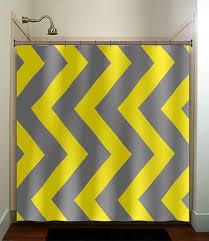 Gray Chevron Bathroom Set by Extra Large Vertical Yellow Gray Chevron Shower Curtain Bathroom