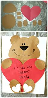 I Love You Beary Much Valentine Craft For Kids