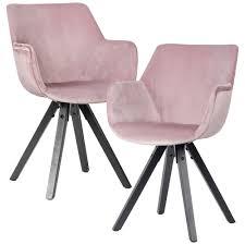 finebuy 2er set esszimmerstuhl samt mit armlehnen küchenstühle modern mit schwarzen beinen bequemer schalenstuhl gepolstert