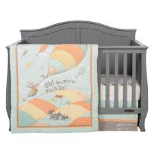 Dr Seuss Baby Bedding by Dr Seuss Oh The Places You U0027ll Go Unisex 5 Piece Crib Bedding