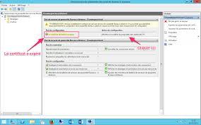 renouveler recréer un certificat remote desktop expiré rds sous