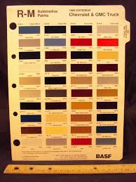 100 Chevrolet Truck Colors 1989 CHEVROLET GMC Paint Chip Page General Motor