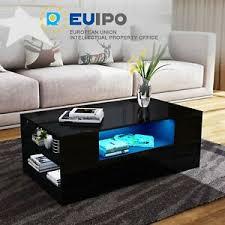 led light designertisch couchtisch wohnzimmer kaffee
