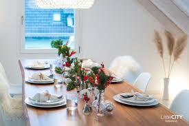 unsere tischdeko für weihnachten mit blicktv in unserem