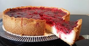 pudding schmand kuchen mit himbeertopping berna03 ein