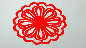 How To Make Simple Paper Cutting Flowerspaper Cutting Design For