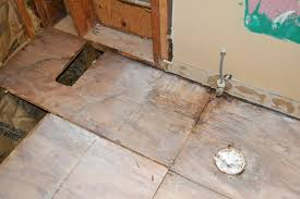 Tiling A Bathroom Floor On Plywood by Replacing Subfloor Damaged By Water Pro Construction Guide