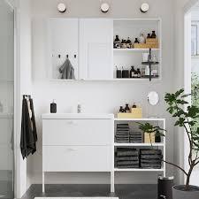 enhet tvällen badezimmer set 15 tlg weiß pilkån mischbatterie 142x43x87 cm