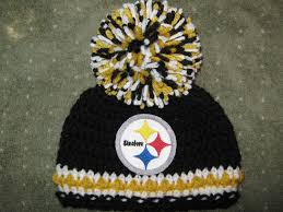 Steelers Pumpkin Carving Patterns Free by Crochet Beanie Baby Hat Pittsburgh Steelers Embroidered Logo