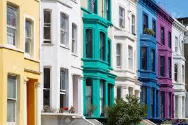100 Townhouse Facades Colorful English Houses Facades In London Near Portobello Road