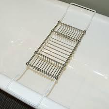 Teak Bathtub Tray Caddy by Nottingham Tub Caddy Bathroom