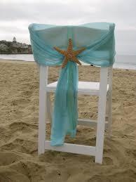 Beach Wedding Chair Caps With Starfish Or Sand Dollars