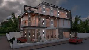 100 Architecture House Design Sketchup 4 Bedrooms Home Plan 8x18m Design