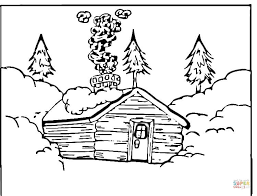 Click The Log Cabin Coloring Pages To View Printable Version Or Color It Online Compatible With IPad And Android Tablets