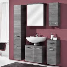 badezimmer hochschrank mit 2 türen und schubkasten alina 66 in graphit struktur b h t 30 185 5 33cm