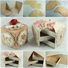 Make A Jewelry Box With Paper Diy Beautiful Secret From Cardboard Craft