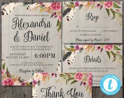 Wedding Invitations Bohemian Rustic Images With Magical Floral Laser Cut