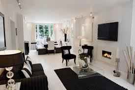 Black And White Living Room Interior Design Ideas Black And White