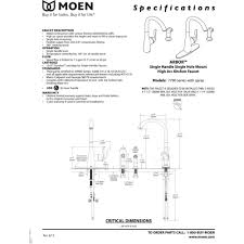 2 Handle Kitchen Faucet With Side Sprayer by Moen 7790 Arbor Chrome One Handle With Sidespray Kitchen Faucets