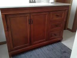 Foremost Naples Bathroom Vanity by Foremost Naples 48 In W Bath Vanity Cabinet Only In Warm Cinnamon