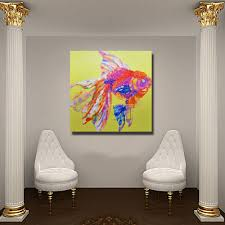 Pretty Pink Fish Painting Modern Decoration Wall Art Bedroom Decor Pictures Canvas High Quality Oil On In Calligraphy From