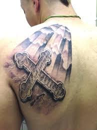 Tattoo Cross Black Scripture
