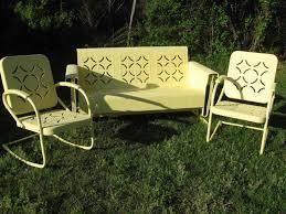 100 1960 Vintage Metal Outdoor Chairs Garden Garden Table Iron Patio Set Retro