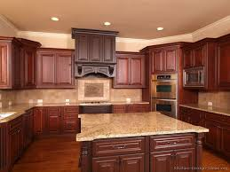 Gallery Traditional Two Tone Kitchens Kitchen Cabinets 154 Cherry Wood Hood Island Corner Oven