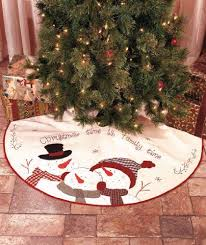 Christmas Tree Skirt 46 Inches In Diamener Embroidered Time Is Family