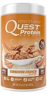 Quest Nutrition Protein Powder Cinnamon Crunch 20g 80 P Cals 1g Sugar