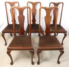 100 High Back Antique Chair Styles Set Five Queen Anne Style Mahogany Back Dining S Tharrison