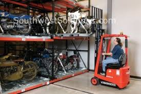 Compact High Density Pallet Racks Condenses Storage To Save Floor Space Efficient Motorcycle