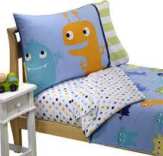 monster toddler bedding set frightful friends bed traditional