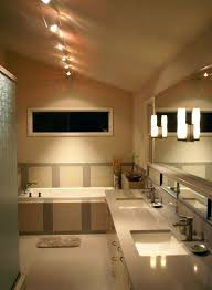how to install track lighting on vaulted ceiling for bathroom with