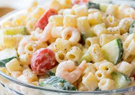facile de salade de pâtes aux crevettes