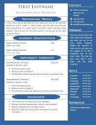 One Page Resume Template Word Free 1 Examples