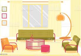 flache banner komfortable wohnzimmer stock vektor und mehr bilder architektur