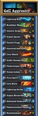 legend aggro overload shaman by godzo
