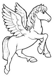 Impressive Unicorn With Wings Coloring Pages T